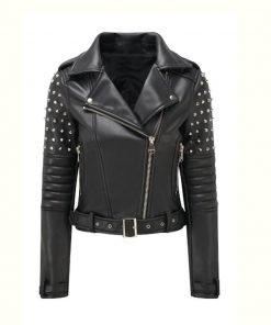 Black Studded Motorcycle Jacket