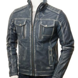 Mens Blue Waxed Jacket