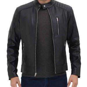 Mens Black Leather Lambskin Jacket