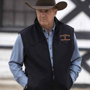 John Dutton Black Vest