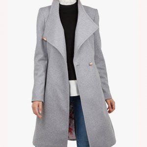 Mandy Davis Grey Wrap Coat