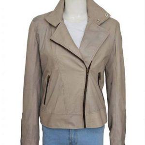 Decker Grey Leather Jacket