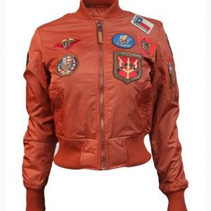 Top Gun MA-1 Rust Bomber Jacket