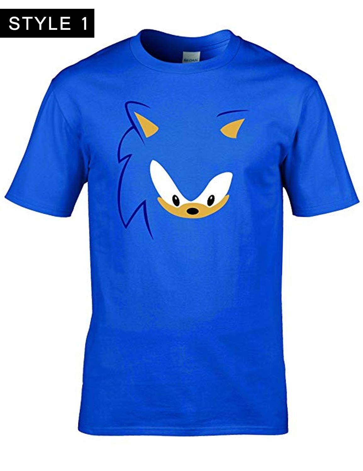 Sonic The Hedgehog Shirt Blue And Black Hleatherjackets