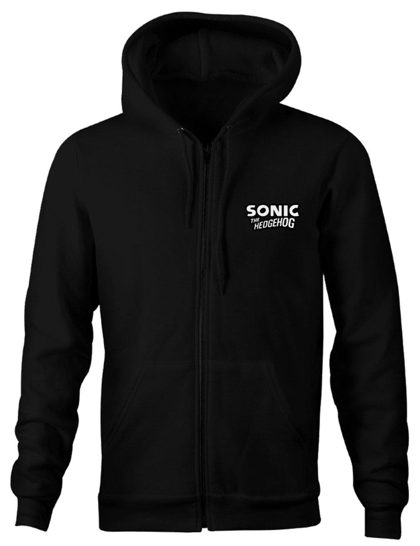 Sonic The Hedgehog Logo Hoodie | Black Color