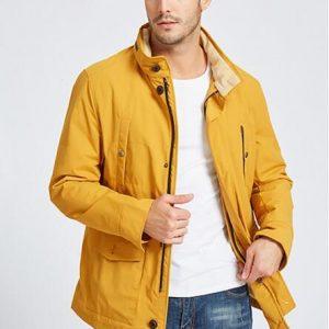 Mens Yellow Cotton Jacket