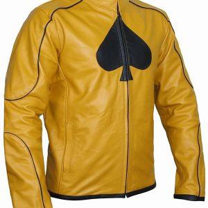 Classy Dijon Mustard Leather Jacket