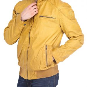 Mens Quilted Yellow Jacket