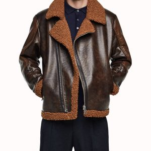 Dean Ambrose Shearling Leather Jacket