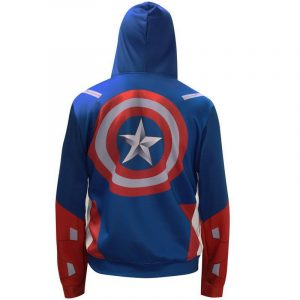 The Avengers Captain America Pull Over Hoodie