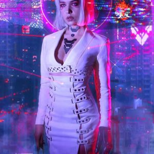 Cyberpunk 2077 Neon Girl Coat