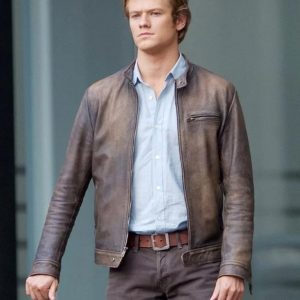 Angus MacGyver Distressed Leather Jacket