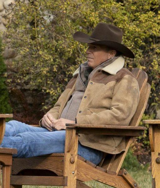 Yellowstone Season 3 Kevin Costner Shearling Jacket