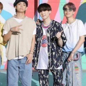 Suga Floral Blue BTS Dynamite Cotton Suit