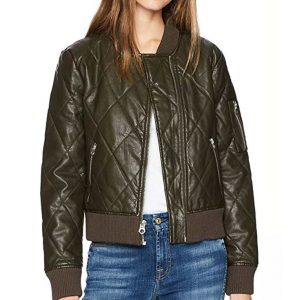 Lindsey Morgan The 100 Seaon 6 Episode 4 Raven Reyes Quilted Bomber Jacket