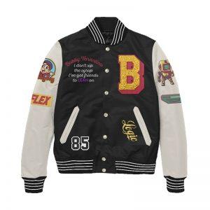 Logic Bobby Tarantino Black and White Letterman Jacket