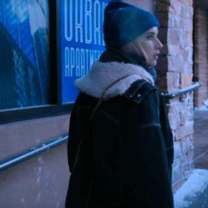 Emma Roberts Holidate 2020 Sloane Jacket With Shearling Trim