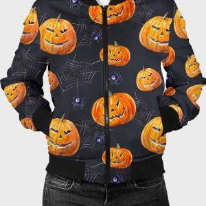 Printed Pumpkins Halloween Jacket