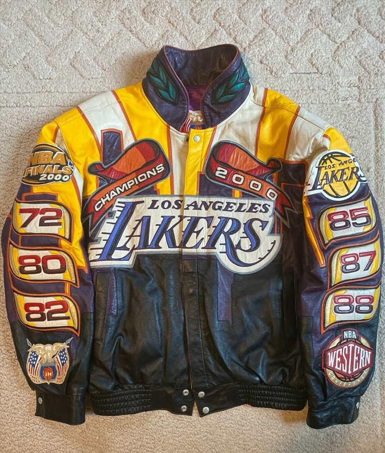 Los Angeles Lakers Nba Champions Jacket Jeff Hamilton Leather Jacket