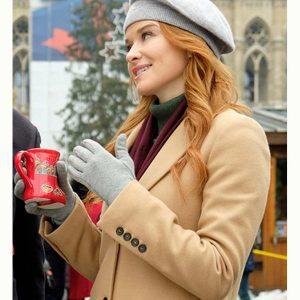 Christmas in Vienna Sarah Drew Trench Beige Coat