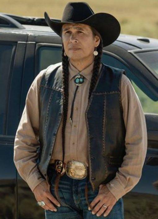 Mo Brings Plenty Yellowstone Leather Vest